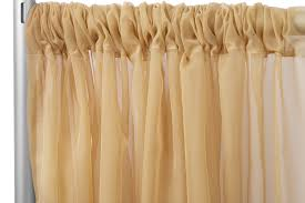 RTHAV - Pipe and Drape Gold Sheer - Per Foot Rental