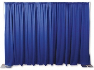 RTHAV - Pipe and Drape Presidential Blue - Per Foot Rental